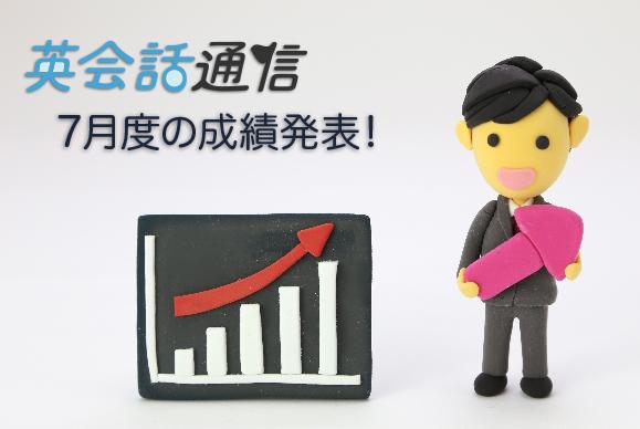 英会話通信 7月度の成績発表!