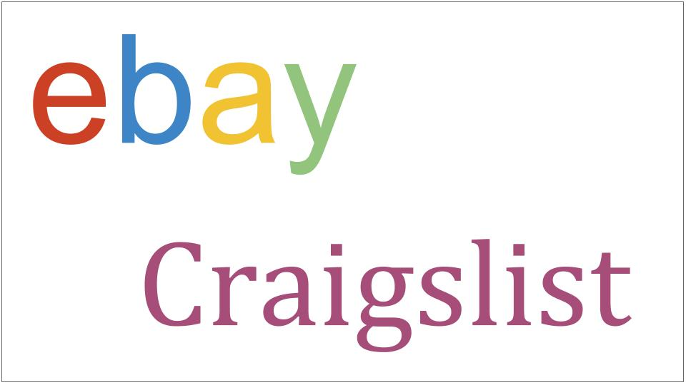 ebay and craigslist
